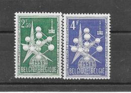 België 1957 Y&T Nr° 1008A,1009 (**) - Unused Stamps