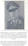 JOACHIM MEISSNER HIGHLY DECORATED HAUPTMANN IN THE FALLSCHIRMJAGER DURING WORLD WAR II AUTOGRAPHE SUR CARTE POSTALE - Autographes