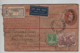 Australia Registered Air Mail PSL Richmond 1939 Via Melbourne To Belgium Antwerp Roughly Open PR3241 - 1913-36 George V : Têtes