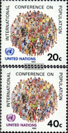 UN - New York 440-441 (complete Issue) Unmounted Mint / Never Hinged 1984 Population Conference - Unused Stamps