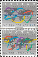 UN - New York 677-678 (complete Issue) Unmounted Mint / Never Hinged 1994 30 Years UNCTAD - New York – UN Headquarters