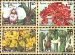 UN - Geneva 288-291 Block Of Four (complete Issue) Unmounted Mint / Never Hinged 1996 Affected Plants - Geneva - United Nations Office