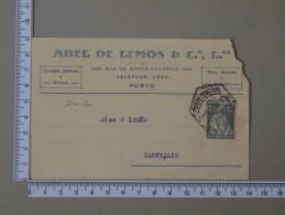 PORTUGAL    - ABEL & LEMOS & Cª, LDA     - (Nº15457) - Interi Postali