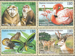 UN - Geneva 330-333 Block Of Four (complete Issue) Unmounted Mint / Never Hinged 1998 Affected Animals - Geneva - United Nations Office