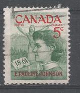 Canada 1961, Scott #392 Emily Pauline Johnson (1861-1913), Mohawk Princess And Poet (U) - 1952-.... Règne D'Elizabeth II