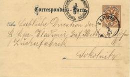 AUSTRIA OSTERREICH 2 KR 1887 KARWIN POLAND To SOKOLNITZ CZECH PRIVATE PRINT - Ganzsachen