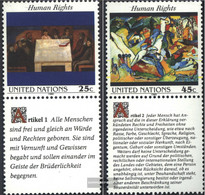 UN - New York 595-596 With Zierfeld (complete Issue) Unmounted Mint / Never Hinged 1989 Human Rights - New York – UN Headquarters