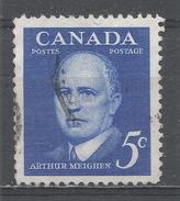 Canada 1961, Scott #393 Arthur Meighen, Prime Minister Of Canada (1920-21, 1926) (U) - 1952-.... Règne D'Elizabeth II
