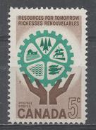 Canada 1961. Scott #395 (MNH) Naturel Resources, Hands, Tree, Fish, Water - 1952-.... Règne D'Elizabeth II