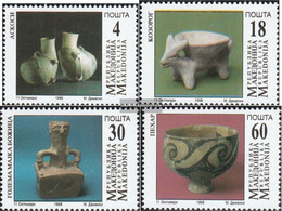 Makedonien 122-125 (complete Issue) Unmounted Mint / Never Hinged 1998 Archaeological Finds - Macedonia