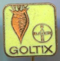 GOLTIX BAYER - Agriculture Chemicals, Germany, Vintage Pin Badge, Enamel - Trademarks