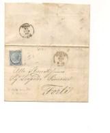 1426) Annullo NUMERALE PUNTI Cesena 60 26-5-1866 De La Rue 20 Su 15c Isolato - Storia Postale