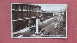 England> London  RPPC  Cenotaph & Whitehall======       ===ref  2303 - London