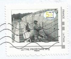 Timbre Personnalisé VNF 50 Ans Du Canal Du Nord Oblitéré Sur Lettre - Frankrijk