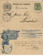 ALTDEUTSCHLAND KONIGREICH BAYERN  5 PF 1899 BRIEFMARKEN RATISBONA REGENSBURG REPIQUAGE - Bayern (Baviera)