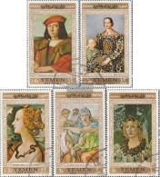North Yemen (Arab Republic.) 592-596 (complete Issue) Fine Used / Cancelled 1967 Paintings Florentine Master - Yemen
