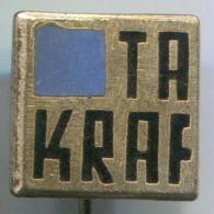 TA KRAF - East Germany, DDR, Enamel, Vintage Pin, Badge - Merken