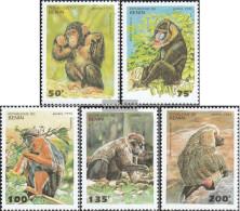 Benin 638-642 (complete Issue) Unmounted Mint / Never Hinged 1995 Monkeys - Benin - Dahomey (1960-...)