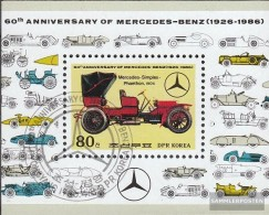 North-Korea Block214 (complete Issue) Fine Used / Cancelled 1986 60 Years Mercedes-Benz - Korea (Nord-)