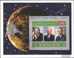 Yemen (UK) Miniature Sheet A167A B (complete Issue) Fine Used / Cancelled 1969 Astronaut - Yemen
