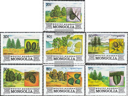 Mongolia 1489-1495 (complete Issue) Unmounted Mint / Never Hinged 1982 Flora The Mongolia - Mongolia
