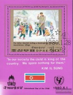 North-Korea Block69 (complete Issue) Fine Used / Cancelled 1980 International Day Of Kinof - Korea, North