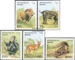 Benin 691-695 (complete Issue) Unmounted Mint / Never Hinged 1995 Mammals Africa - Benin - Dahomey (1960-...)