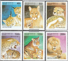 Benin 704-709 (complete Issue) Unmounted Mint / Never Hinged 1995 Cats - Benin - Dahomey (1960-...)