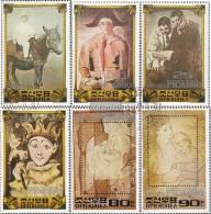 North-Korea 2223-2228 (complete.issue.) Fine Used / Cancelled 1982 Pablo Picasso - Korea, North