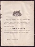 MAASTRICHT Bernard SCHREUDER 76 Ans En 1862 Inspecteur Enseignement Duché De Limbourg Chevalier Lion Néerlandais - Obituary Notices