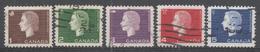 Canada 1962-3. Scott #401-5 (U) Queen Elizabeth II And Symbol In Upper Left Corner - 1952-.... Règne D'Elizabeth II