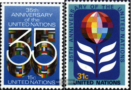 UN - New York 346A-347A (complete Issue) Unmounted Mint / Never Hinged 1980 35 Years UN - New York – UN Headquarters