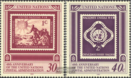 UN - New York 621-622 (complete Issue) Unmounted Mint / Never Hinged 1991 40 Years UN-Postal Administration - New York – UN Headquarters