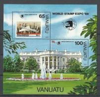 VANUATU 1989 WORLD STAMP EXPO MS MNH - Vanuatu (1980-...)
