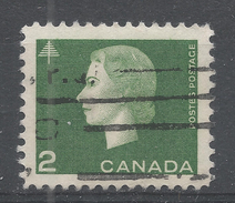Canada 1963, Scott #402 Queen Elizabeth II And Tree (U) - 1952-.... Règne D'Elizabeth II