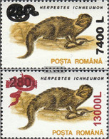 Romania 5552-5553 (complete Issue) Unmounted Mint / Never Hinged 2001 Clear Brands: Animals - Nuovi
