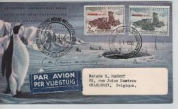 TP 1030-1031 S/L.Avion Expédition Antarctique Belge C.5/1/1958 Chiens V.Charleroi C.BXL 24.2.58 PR3247 - Bases Antarctiques