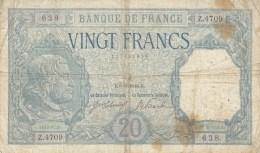 Billet 20 F Bayard Du 6-6-1918 Alph. Z.4709 - 1871-1952 Antiguos Francos Circulantes En El XX Siglo