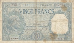Billet 20 F Bayard Du 6-6-1918 Alph. Z.4709 - 1871-1952 Anciens Francs Circulés Au XXème