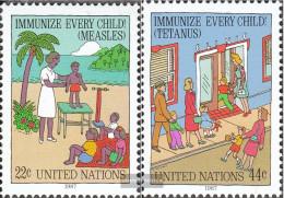 UN - New York 542-543 (complete Issue) Unmounted Mint / Never Hinged 1987 Kinderschutzimpfung - New York – UN Headquarters