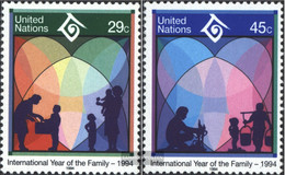 UN - New York 661-662 (complete Issue) Unmounted Mint / Never Hinged 1994 Year The Family - New York – UN Headquarters
