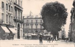 ROUEN - Place Des Carmes - Marché Aux Fleurs Et Rue De La Chaîne - Rouen