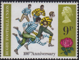 England 1971: Michel-Nr. 551 ** MNH 100 Jahre Rugby Football Union - Rugby