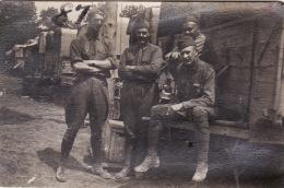 """Photo Juillet 1917 JOUAIGNES (près Soissons) - Au Camp Américain, """"Fairchild, Gomstock, Hill Et Bakey"""" (A153, Ww1, Wk 1) - France"""