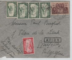 Belgisch Congo Belge TPA 9(4)-8-187 S/L.Avion .....ville 24/11/1958 V.Bruxelles C.d'arrivée PR3248 - Congo Belge