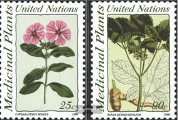 UN - New York 600-601 (complete Issue) Unmounted Mint / Never Hinged 1990 Medicinal Plants - New York – UN Headquarters