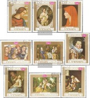 Yemen (UK) 717A-725A (complete Issue) Fine Used / Cancelled 1969 Paintings European Master - Yemen