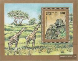 Benin Block10 (complete.issue.) Unmounted Mint / Never Hinged  1995 Monkeys