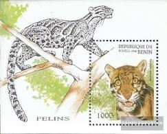 Benin Block19 (complete.issue.) Unmounted Mint / Never Hinged  1996 Wildcats