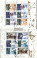 North-Korea 3321-3326 Sheetlet (complete Issue) Fine Used / Cancelled 1992 RICCIONE '92: Sailboats - Korea (Nord-)